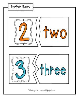 Putting the Pieces Together: Number Sense Work (1-10)