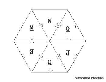 Puzzle 1 - Multiplication Whole Numbers 0-15 - PP