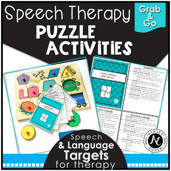 Speech Therapy Puzzle Activities - Grab and Go