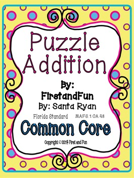 Fun Puzzle Addition Pack Envision MAFS Common Core Game