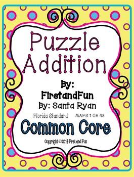 Fun Puzzle Addition Pack Envision MAFS Common Core Game