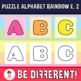 Puzzle Alphabet Clipart Letters Rainbow Edition 2