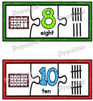 Puzzle Alphabet and Number Cards