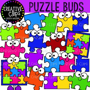 Puzzle Buds {Creative Clips Clipart}