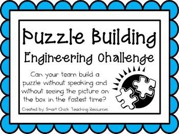 Puzzle Building: Engineering Challenge Project ~ Great STEM Activity!