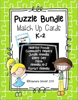 Puzzle Bundle Match Up Cards K-2
