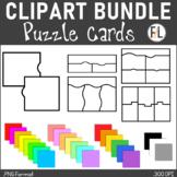 Puzzle Card Clipart - All Colors BUNDLE