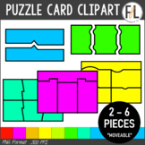 Puzzle Card Clipart:  NEON BRIGHTS