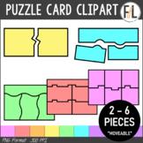 Puzzle Card Clipart:  PASTEL COLORS