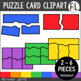 Puzzle Card Clipart:  PRIMARY COLORS