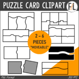 Puzzle Card Templates - Clipart