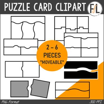Puzzle Card Templates - Clipart