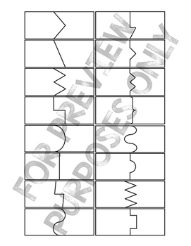 Puzzle Card Templates