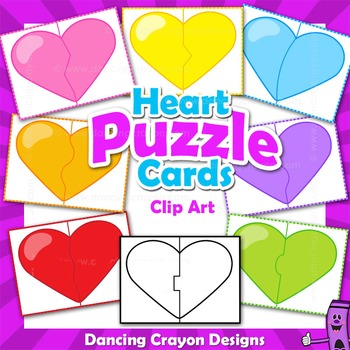Puzzle Cards - Hearts