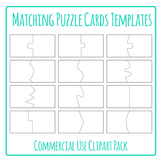 Puzzle Cards Templates for Matching Games Clip Art / Clipa