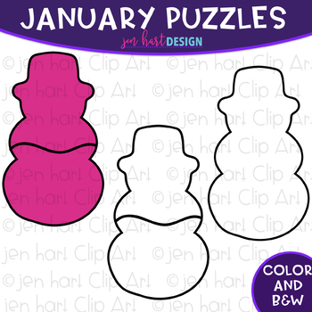 Puzzle Clip Art -January Themed Puzzles {jen hart Clip Art}