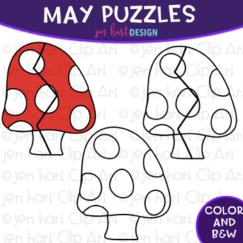 Puzzle Clip Art -May Themed Puzzles {jen hart Clip Art}