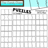 Puzzle Clipart - 26 Different Puzzles in Transparent & Fil