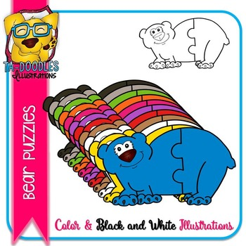 Puzzle Clipart :  Bear Puzzles Commercial Use
