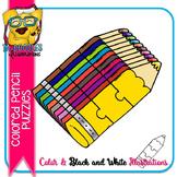 Puzzle Clipart :  Colored Pencil Puzzle Commercial Use