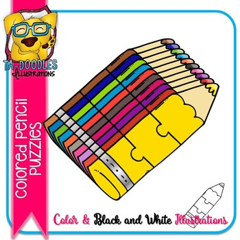 Puzzle Clipart :  Colored Pencil Puzzle Commercial Use