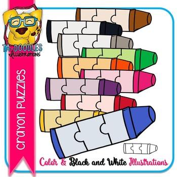 Puzzle Clipart :  Crayon Puzzle Commercial Use