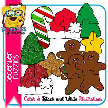 Puzzle Clipart :  December Puzzles Commercial Use