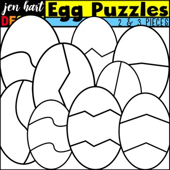 Puzzle Clipart {Easter Egg}