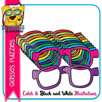 Puzzle Clipart :  Glasses Puzzles Commercial Use