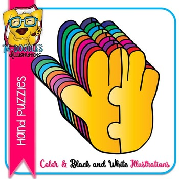 Puzzle Clipart :  Hand Puzzles Commercial Use