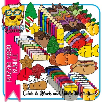 Puzzle Clipart :  MEGA BUNDLE Puzzles Commercial Use