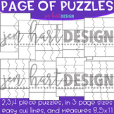 Puzzle Clipart - Page of Puzzles - Build-a-Center {Jen Har