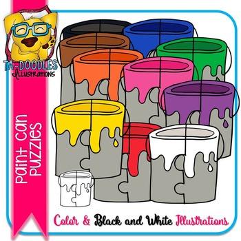 Puzzle Clipart :  Paint Bucket Puzzle Commercial Use