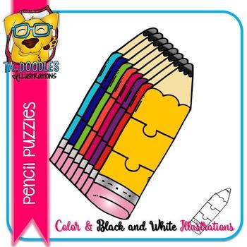 Puzzle Clipart :  Pencil Puzzles Commercial Use