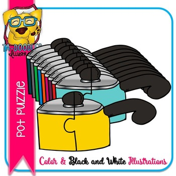 Puzzle Clipart :  Pots Puzzles Commercial Use