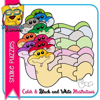 Puzzle Clipart :  Snake Puzzle Commercial Use