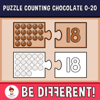 Puzzle Counting Chocolate 0-20 Clipart