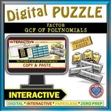 Puzzle:Factoring GCF of Polynomials (Google Interactive &Copy)