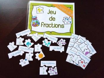 Puzzle Fraction game - Jeu de casse-têtes de fractions