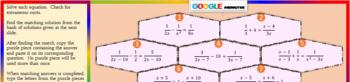 Puzzle & Fun Fact: Solve Rational Equations (Google Interactive & Hard Copy)