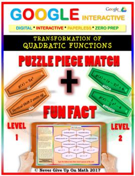 Puzzle & Fun Fact:Transformation of Quadratic Function 2 Levels (Google & Copy)