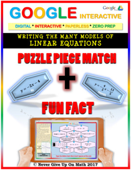 Puzzle & Fun Fact:Writing Linear Equation {All Models}(Google Interactive &Copy)