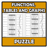 Puzzle - Functions, tables and graphs - Funciones, tablas