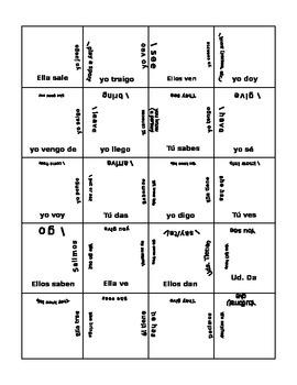 Puzzle Irregular yo verbs