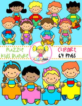 Puzzle Kids Clipart