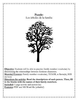 Puzzle - Los árboles de la familia