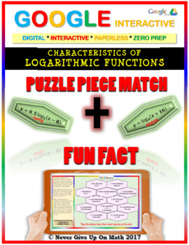 Puzzle & Fun Fact: Properties of Logarithmic Function(Google Interactive & Copy)
