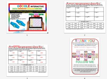 Puzzle & Fun Fact: Evaluate Logarithms (Google Interactive & Hard Copy)