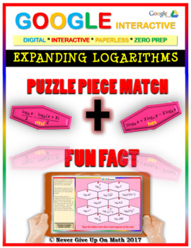 Puzzle & Fun Fact: Expanding Logarithms (Google Interactive & Hard Copy)