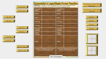 Puzzle Match - Exponential & Logarithmic Parent (Google Interactive & Hard Copy)